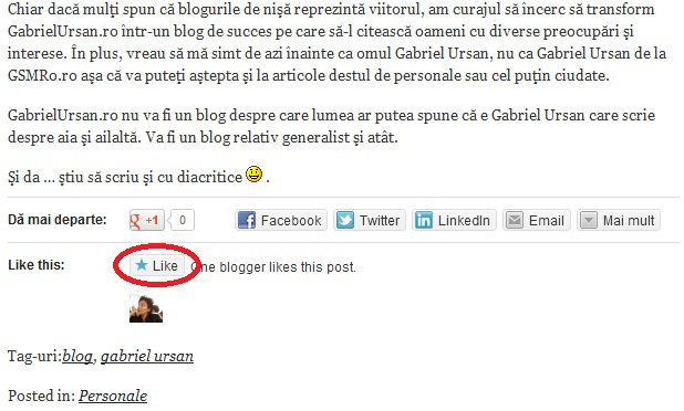 Dă un like de WordPress