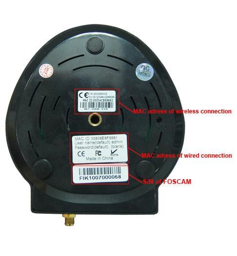 Camera IP Wi-Fi cu sunet Foscam FI8918W dedesubt