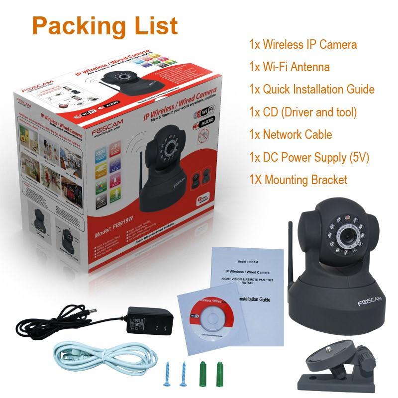 Camera IP Wi-Fi cu sunet Foscam FI8918W pachet vanzare