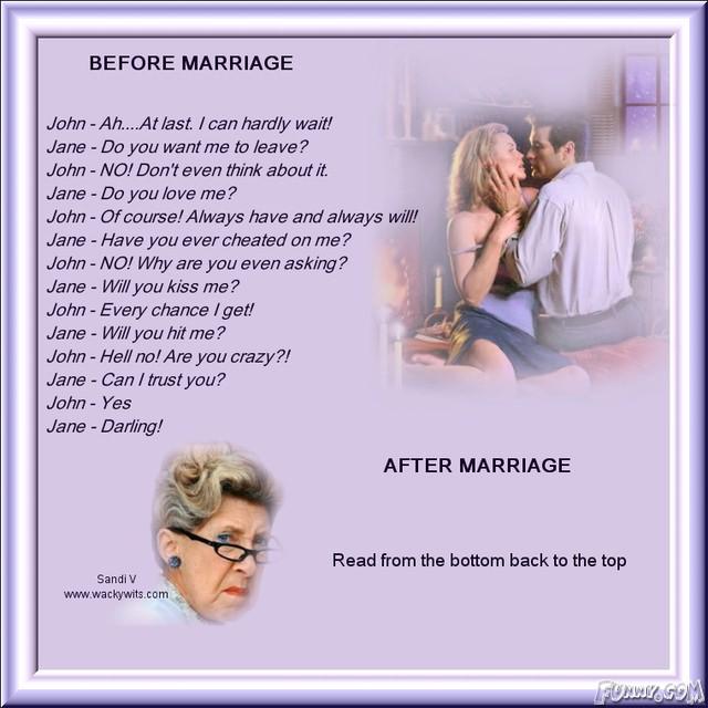 Inainte si dupa casatorie