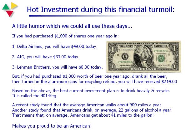 Amuzant: Investiţia în bere