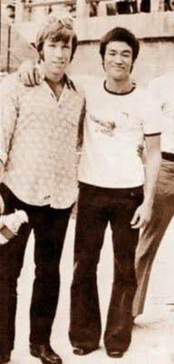 Chuck Norris şi Bruce Lee