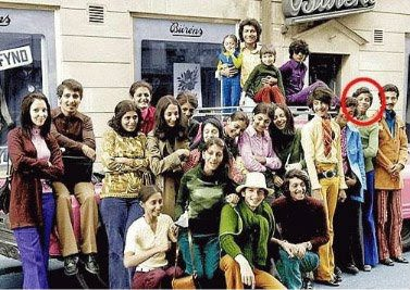 familia lui Osama Bin Laden (e cel încercuit cu roşu)