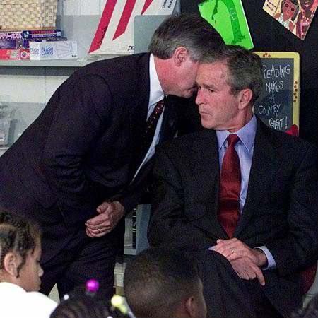 momentul când George Bush a fost înştiinţat despre atacul de la World Trade Center