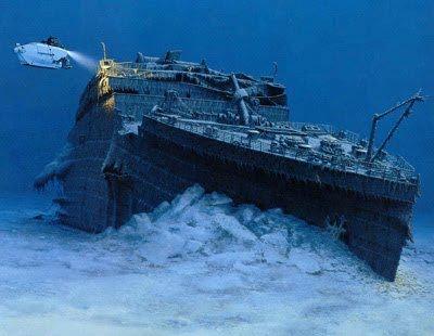 vasul Titanic pe fundul oceanului