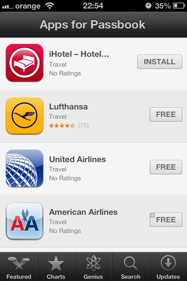 Aplicatii Passbook