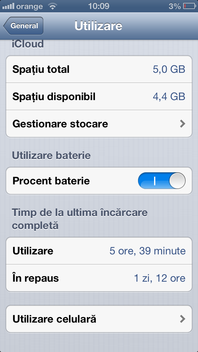 Cat tine bateria la iPhone 5