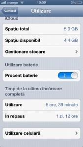 Cat tine bateria la iPhone 5