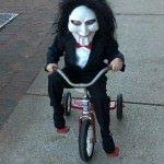 Costum pe bicicleta de Halloween
