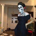 Machiaj schelet de Halloween