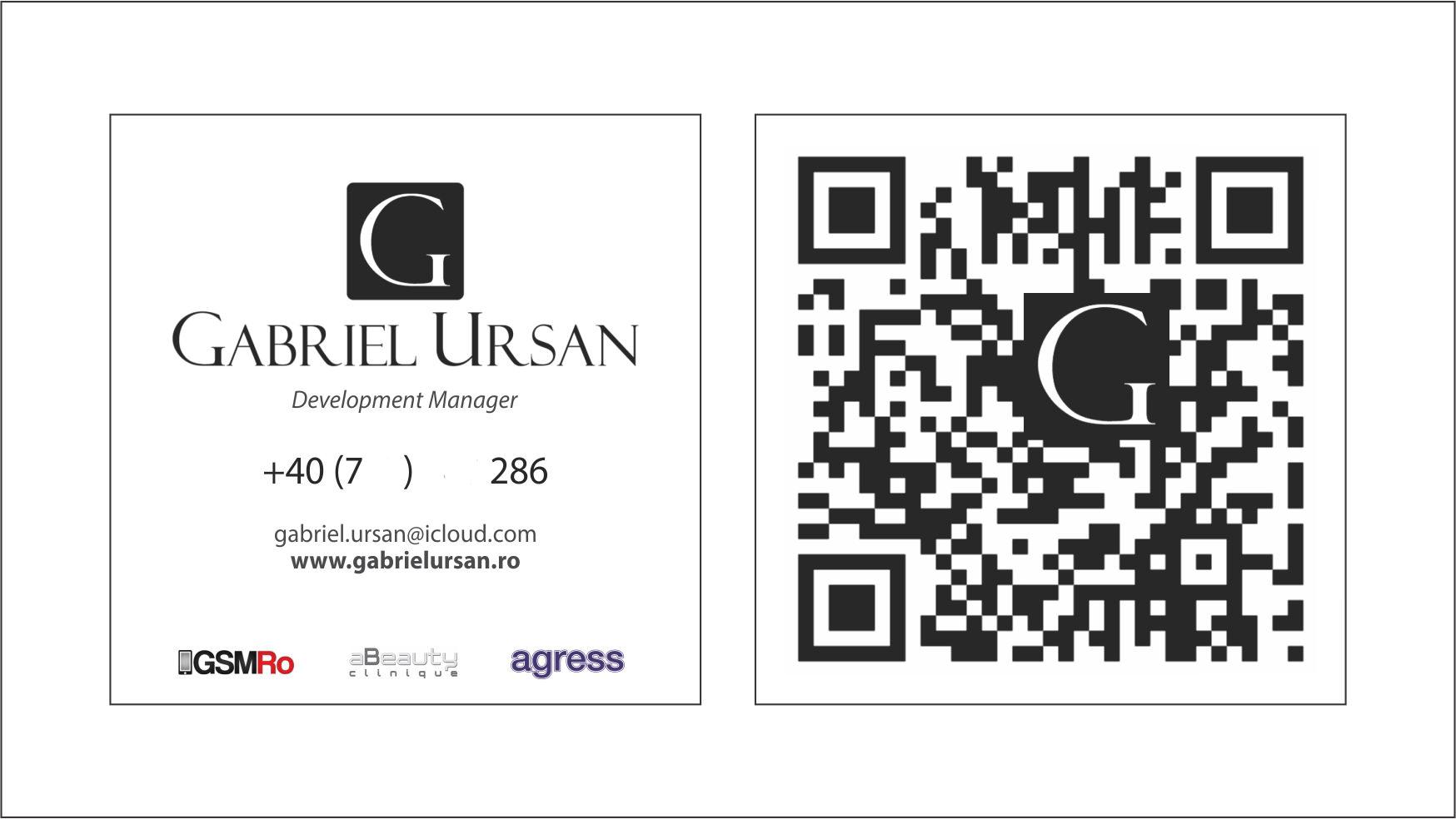 Carte vizita Gabriel Ursan