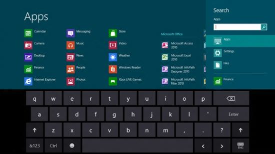Windows 8 touchscreen