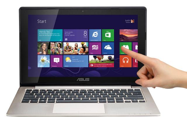 Laptop touchscreen Windows 8