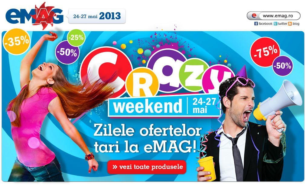 Reduceri mari de weekend la eMAG