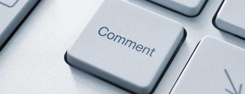 Mai multe comentarii pe blog? Comentează!
