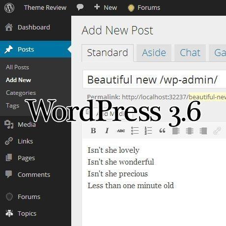 WordPress 3.6, o schimbare majoră la designul interfeței