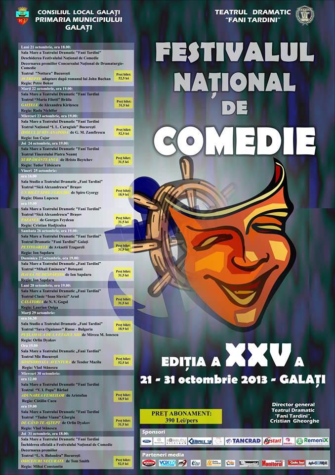 Program Festival Comedie Galați 2013