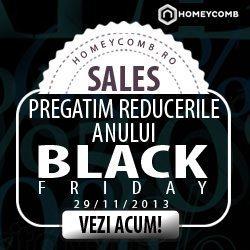 Produse exclusiviste de home&deco, cu reducere de 80%, de Black Friday pe Homeycomb.ro