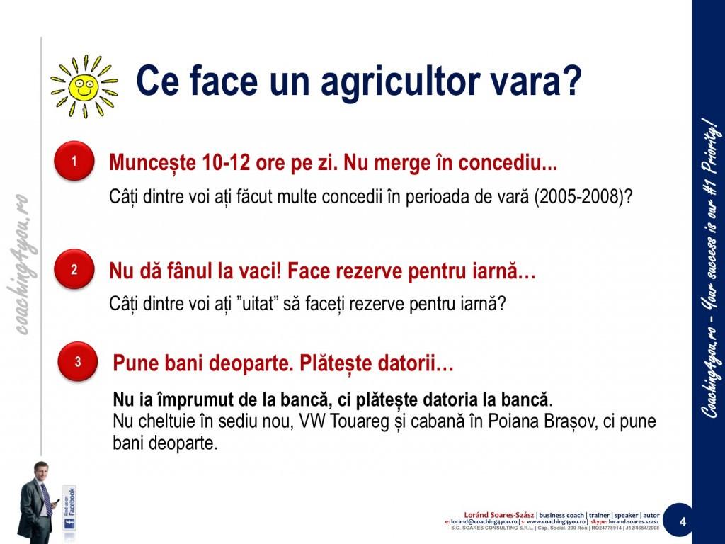 4. Învățăm de la agricultori