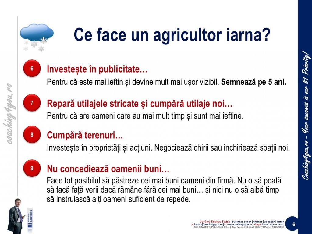 6. Învățăm de la agricultori