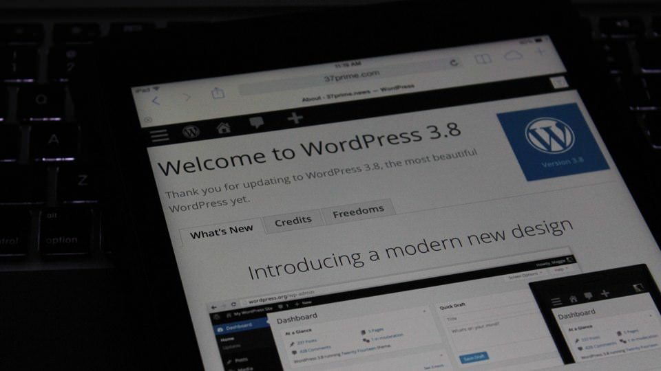 Update la WordPress 3.8