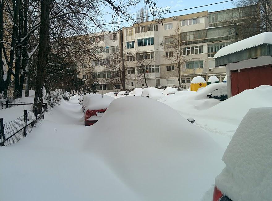 Despre iarna si locurile de parcare