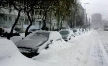 Loc de parcare iarna