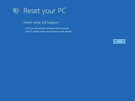 Cum dai hard reset la un laptop cu Windows 8
