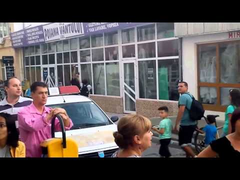 Incident la aniversarea unui an de proteste anti-fracturare (gaze sist) in Barlad