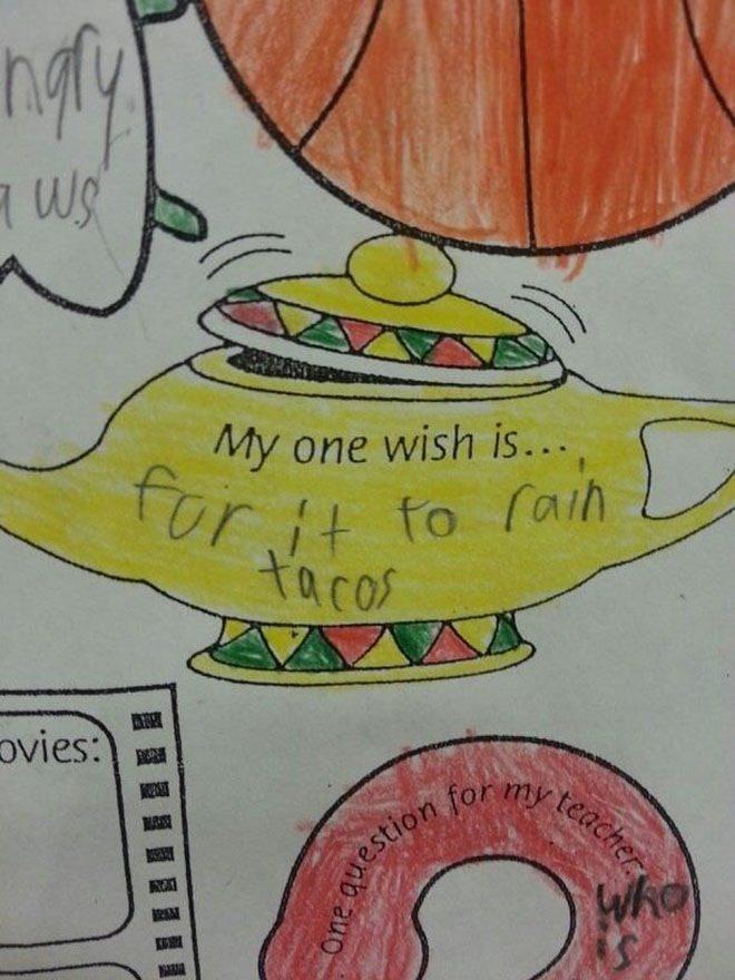 27 de chestii haioase pe care copiii si le doresc in viitor. Si o exprima foarte simplu.