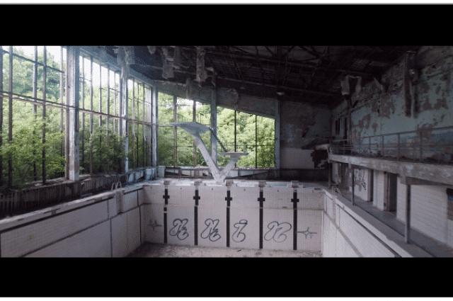 Cernobîl filmat din drona