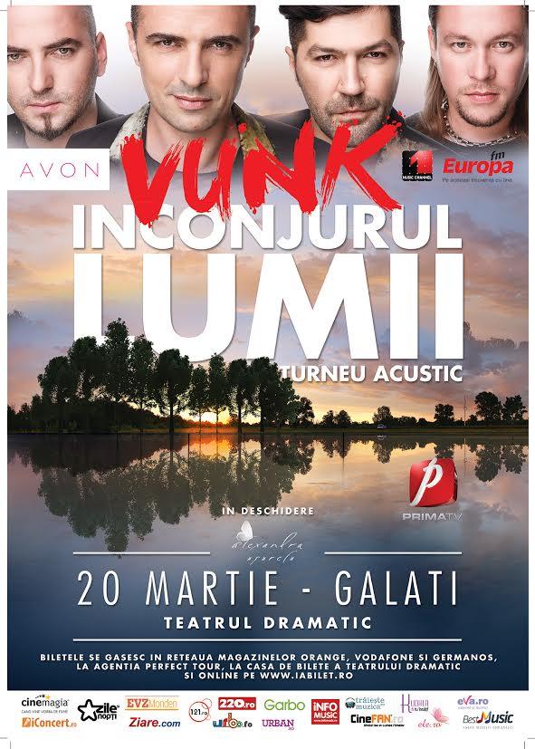 Zi-mi ce sa le transmit celor de la Vunk sa faca atunci cand vin in Galati si poti castiga doua invitatii duble la concertul din Galati plus acces special in backstage