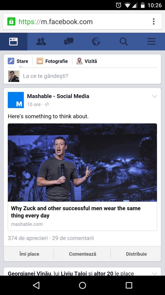 Am dezinstalat aplicația de Facebook de pe mobil