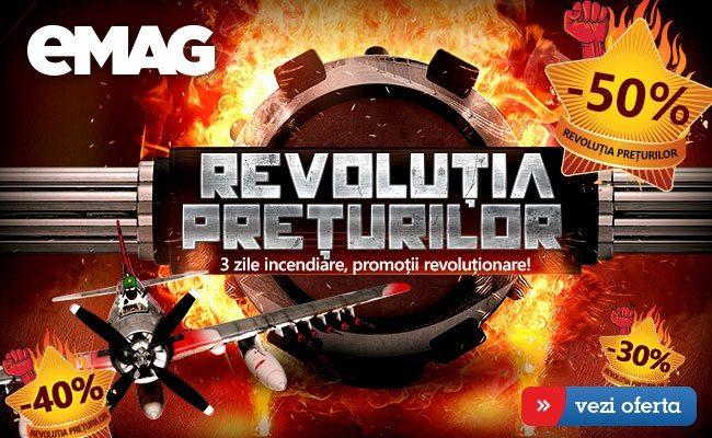 Instalează aplicația eMAG acum și ai acces mai rapid la Revoluția Prețurilor