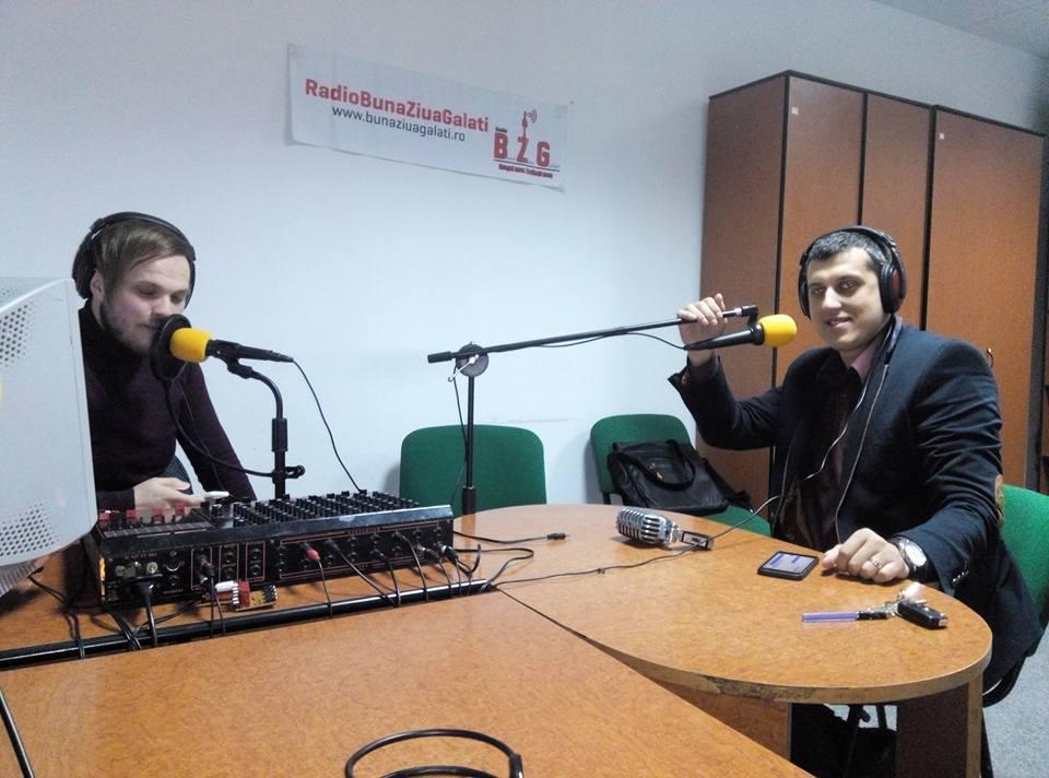 Azi am înregistrat la Radio Bună Ziua Galați