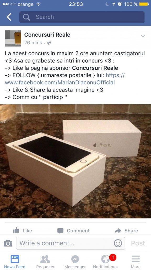 Concursuri Reale iPhone