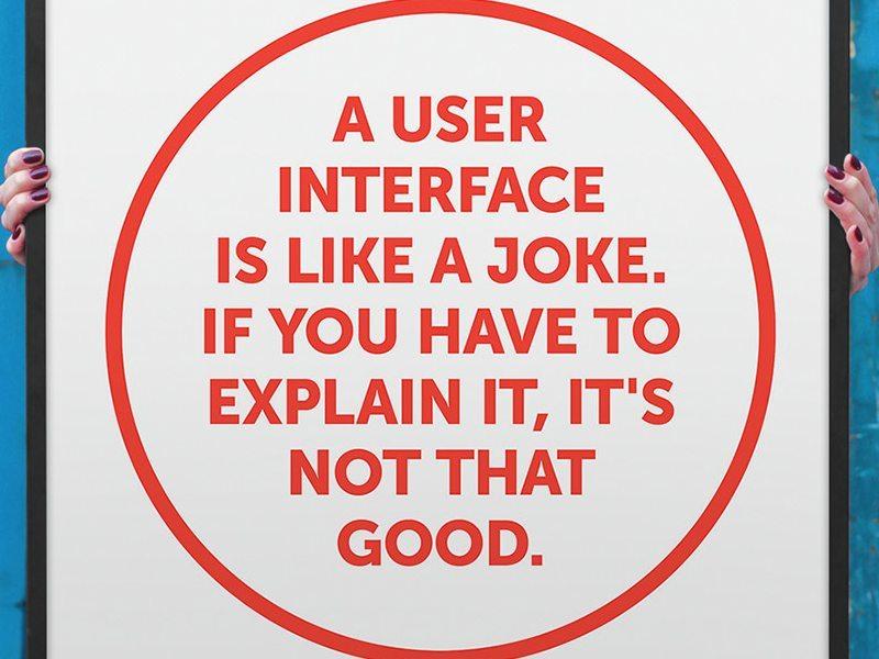 Programatorii buni știu că interfața pentru utilizator e ca o glumă