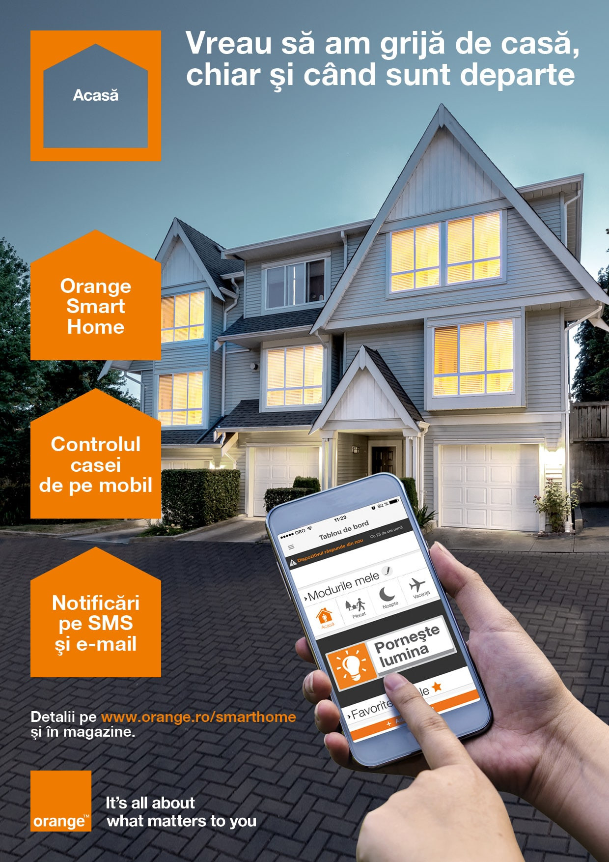 Îmi place ideea Orange Smart Home