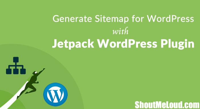 Sitemap WordPress Jetpack Plugin