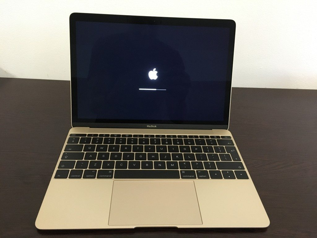 Pornire MacBook 12