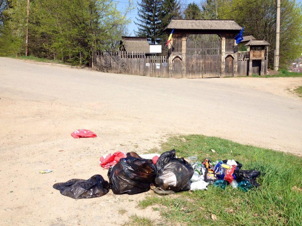 Aruncat gunoi pe jos
