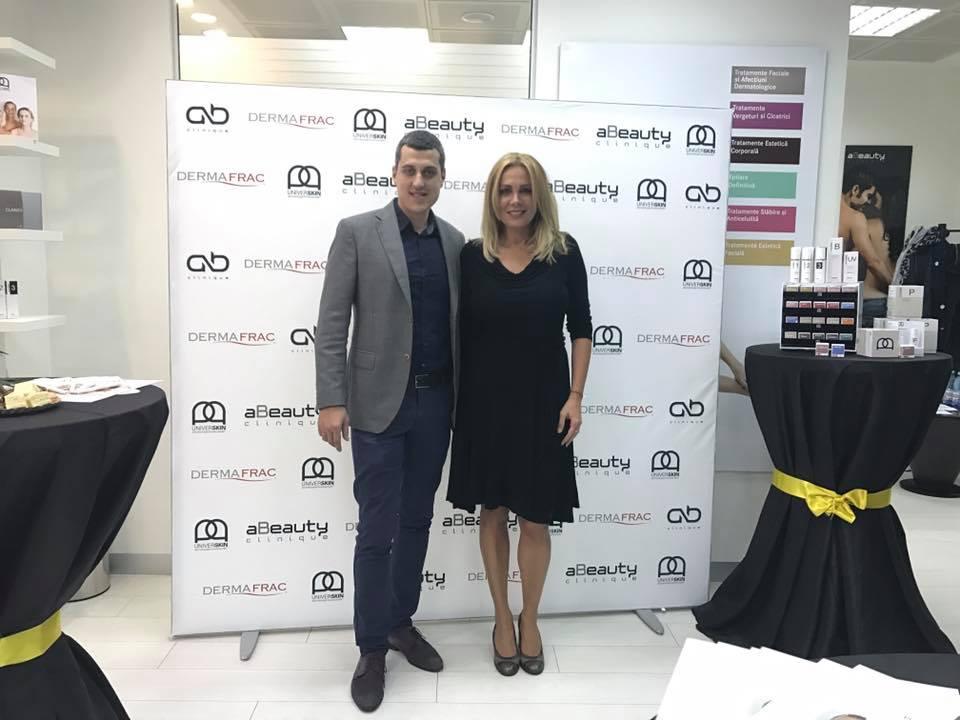 Dana Savuica la aBeauty cu Gabriel Ursan