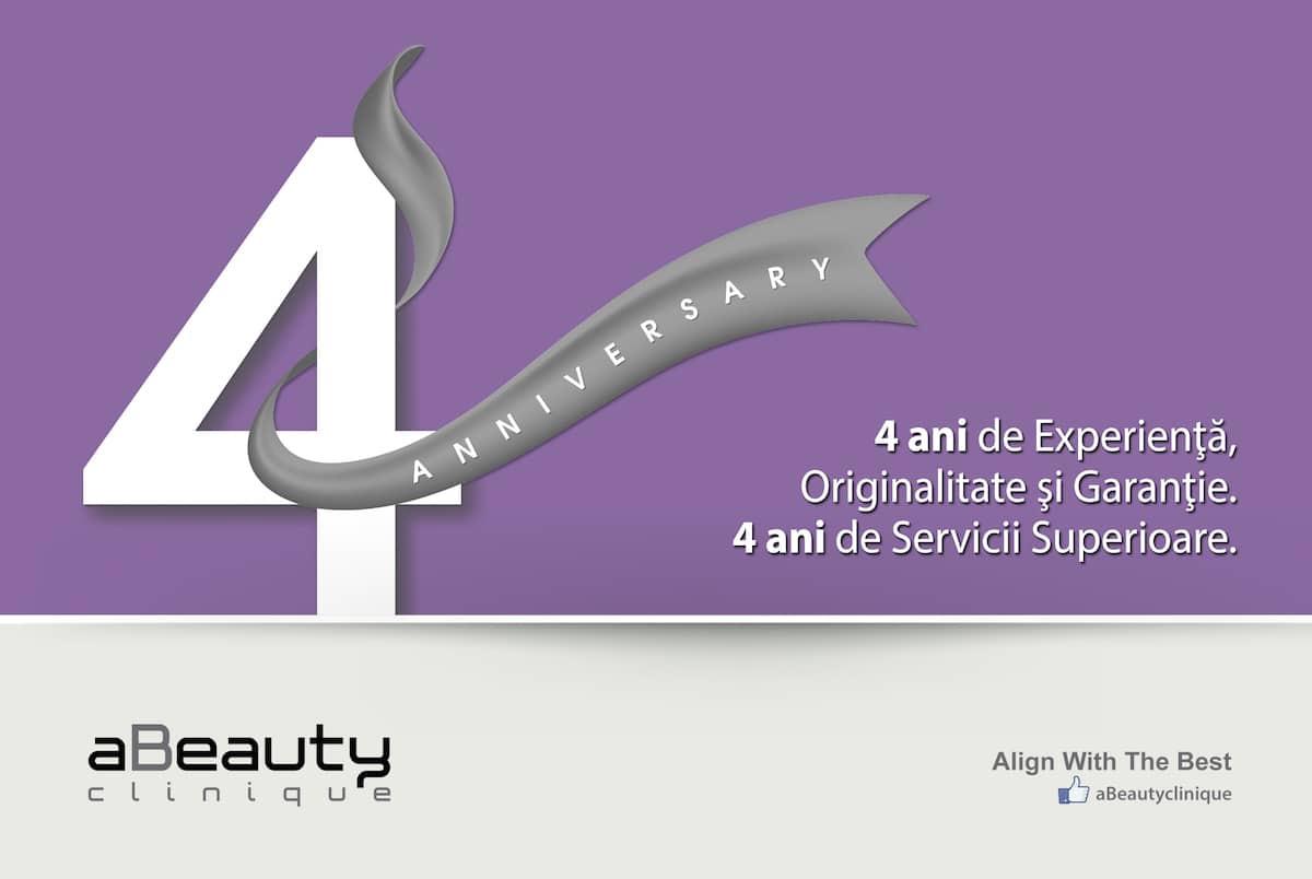 4 ani de servicii superioare în estetică și înfrumusețare