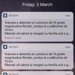 Cum am petrecut de cutremurul de 10 grade anunțat de aplicația Biziday
