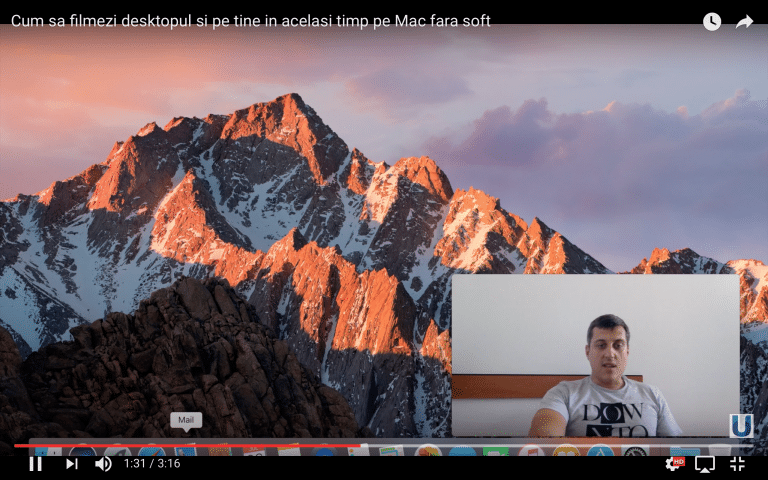 Cum sa filmezi desktopul si pe tine in acelasi timp pe Mac fara soft