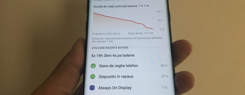 M-a ținut bateria 5 zile la Samsung Galaxy Note 8