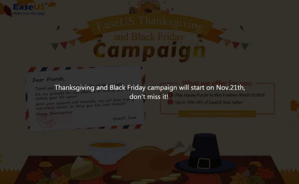 easeus bf thanksgiving
