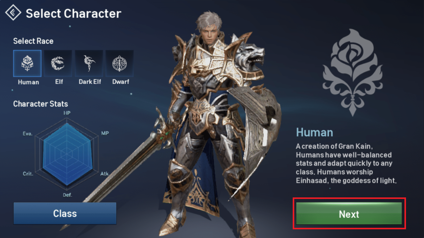 Lineage 2 Revolution caractere
