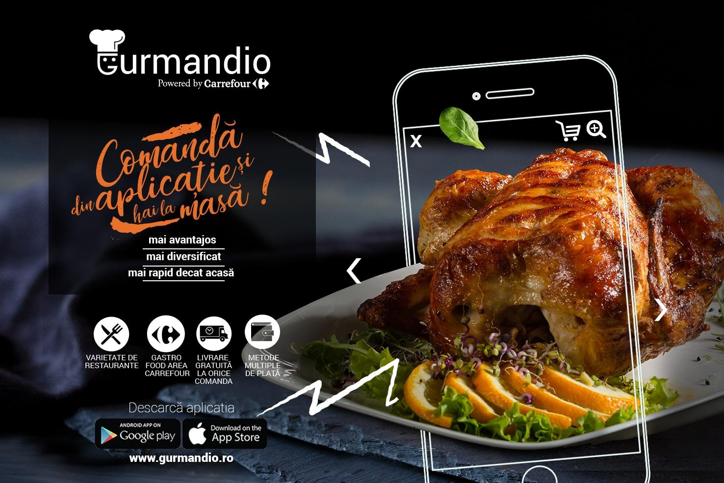 Acum poți comanda mâncare în Galați direct din aplicația Gurmandio Carrefour