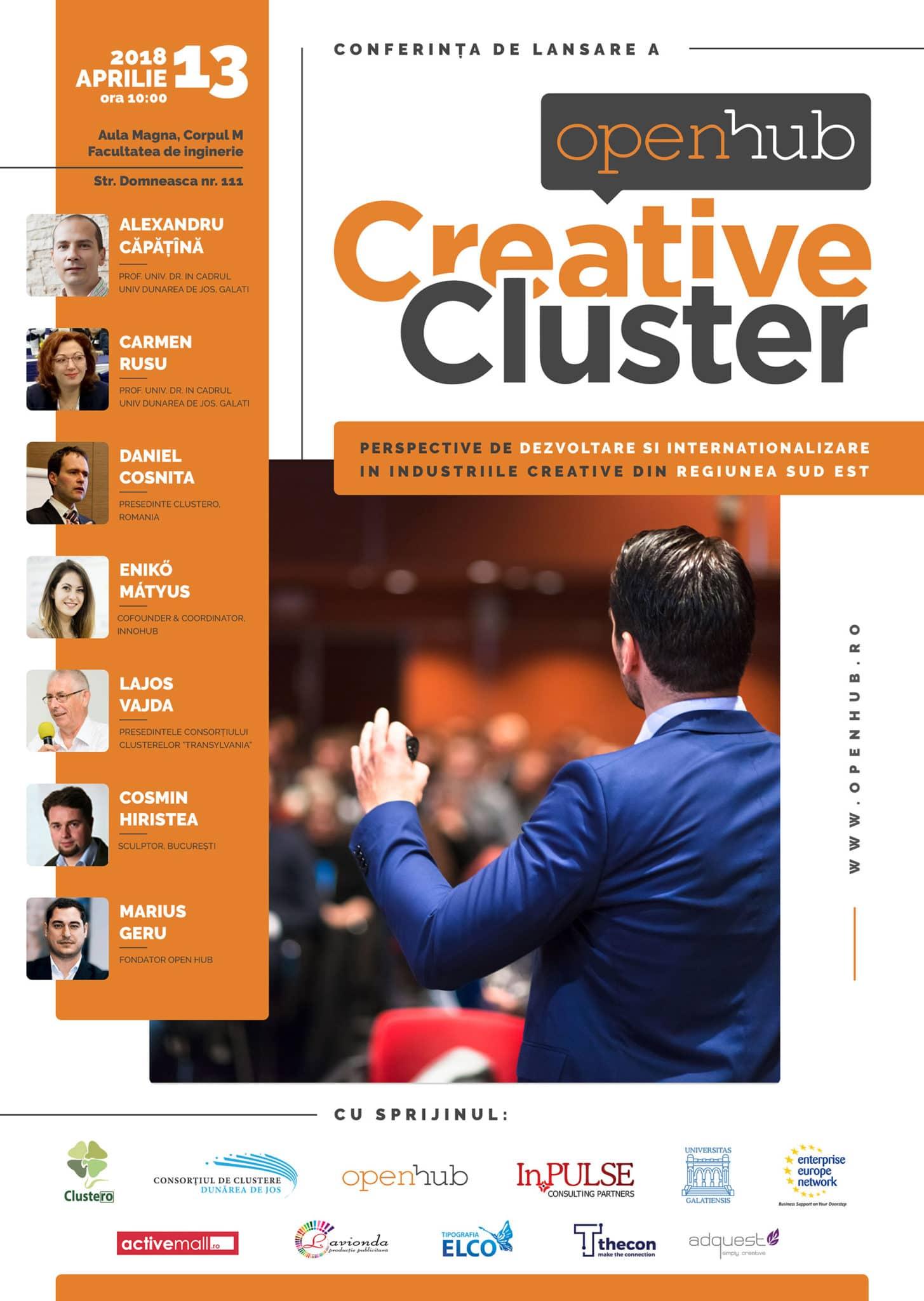 Lansarea OpenHub Creative Cluster în regiunea de Sud-Est a României